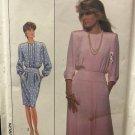 Simplicity 9015 Misses Dress Yoke Waist Pleated Bodice Pencil or Flare Skirt Size 22