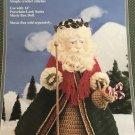 """Fibre Craft Outfit  14"""" Santa Claus Kris Kringle Doll Crochet Pattern FCM301"""