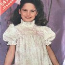 Sewing Pattern Butterick 5418 Girls A Line Size 5 6 6X Flower Girl Special Occasion