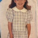 See & Sew Butterick 5417 Girl's Semi-fitted, slightly flared dress Sewing Pattern size 2 3 4