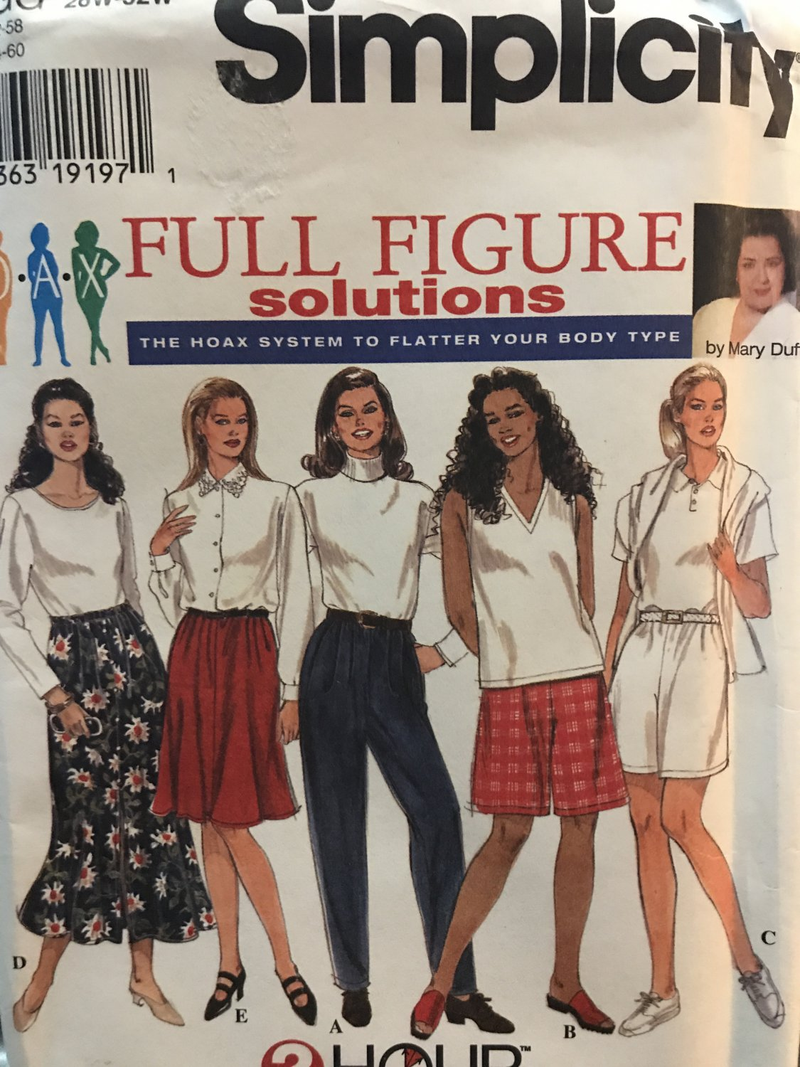 Simplicity Sewing Pattern 7248 Misses Top Skirt Shorts and Pants Plus Size 26 - 32