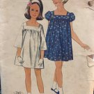 Vintage Butterick 4247 1960s girl's sewing pattern smock dress size 10