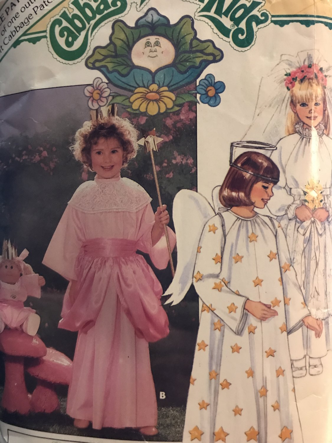 Butterick 3490 Cabbage Patch Children's, Girls' Costumes & Transfers w/ Bonus Pattern for Doll