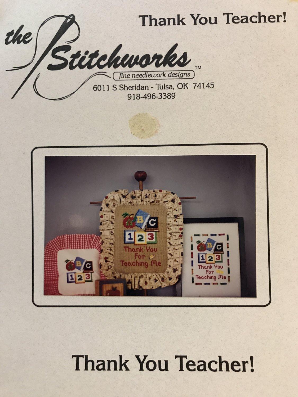 The Stitchworks Thank you Teacher Cross Stitch Chart