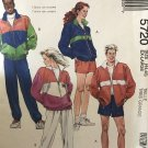 McCall's 5720 Lined or Unlined Jacket, Pants or Shorts Jogging Suit size XL sewing pattern