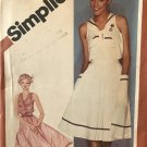 Simplicity 9999 Sewing Pattern Sundress V Neck Sleeveless, Nautical / Sailor Style  Size 14