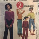 McCall's 3013 Girls' Tops and pull-on Pants in two Lengths size 7 8 10 sewing pattern