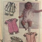 Simplicity 8105 Romper Dress Panties Vest Shoes Sewing Pattern for Baby 6 months