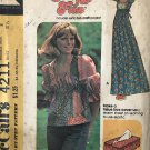 McCall's 4211 Misses' Dress or Top size 8 Includes Craft Project - Make a Tissue Box Sewing Pattern