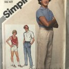 Simplicity 9923 Boy's Elastic Waist Pants or Shorts Sewing Pattern 16 waist 28
