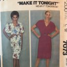 McCall's 7073 Misses' Pullover dress, with sleeves cut-in Sewing Pattern size large 18 20