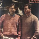 Fashioned for Men Leisure Arts 801 Knitting Pattern 2 designs by Joan Beebe