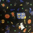 "Halloween Cotton Fabric -Ghosts and Jack O'Lanterns 1 yard x 44"""