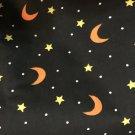 "Halloween Cotton Fabric - Moons and Stars 1 yard x 44"""