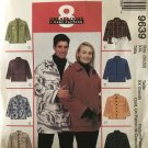 "McCalls 9639 Unisex Mens Womens Shirt Jacket Plus Size Sewing Pattern Size XXL 50"" 52"" chest"
