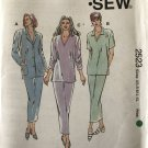 Kwik Sew 2523 Misses Tunic Top Jacket Skirt Sewing Pattern Misses Sizes XS to XL