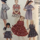 McCalls 7335 Childs Girls Dress and Scarf sewing pattern size 4 5 6