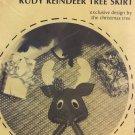 Rudy Reindeer Ho HO Ho Christmas Tree Skirt Stitch 'n Stuff Sewing Pattern