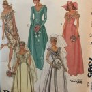 Sewing Pattern Bridal Gown, bridesmaid gown off the shoulder McCall's 7395 Size 8