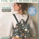 The City Backpack with adjustable straps Simply Sewing Pattern uncut.