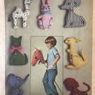 Simplicity 7744 Set of Stuffed Toys Hobby Horse and other animals vintage Sewing Pattern