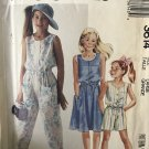 McCall's 3614 Girls' Dress Jumpsuit and Romper Sewing Pattern size 12-14 large