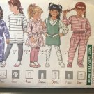 Butterick 4485 Children's Dress, Top Jumper Skirt Pants & Leggings sewing pattern size 4 5 6
