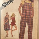 Simplicity 9984 Young Junior Teen's Jumpsuit in Two Lengths Sundress Sewing Pattern Size 5/6 7/8