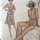 VOGUE 9136 Misses Retro Pant suit top & Pants Sewing Pattern size 12