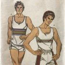 Kwik Sew 1239 Men's Tank Top & Shorts Sewing Pattern chest size 34 - 40, waist  28 - 34