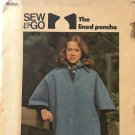 Butterick 4458 Lined Poncho sewing pattern UNCUT Size M 12 - 14