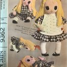 "McCall's 9362 Stuffed Doll Doll made from t-shirt ©1968  22"" UNCUT"