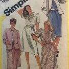 Simplicity 5853 Skirt, Blouse and Lined Jacket in Half-Sizes Size 22 1/2 sewing pattern