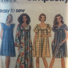 Simplicity 8959 Pullover Caftan House Dress Muu Muu size XS S M Sewing Pattern