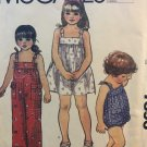 McCall's 7896 Quick & Easy Toddlers' and Children's Dress, Jumpsuit and Romper Sewing Pattern size 5