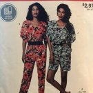 McCalls 9332 Misses' Jumpsuit Stitch 'n Save Sewing Pattern Size XS -  XXL