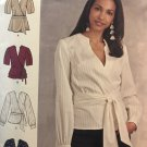 Simplicity 8791 Sewing Pattern Misses' Wrap Top Sleeve Variations plus sizes 16 - 24