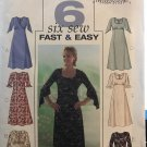 Butterick 4063 Sewing Pattern Six fast & easy Dresses  Size 12 - 16
