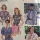 Simplicity 9014 Misses' Set of Shirt Styles Size 6 8 10 Sewing Pattern