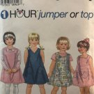 Simplicity 7149 Child's Jumper and Top Sewing Pattern Size 2 3 4
