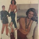 Simplicity 9697 Christie Brinkley Simplicity Pants Jacket Top pattern sz Pet-XL