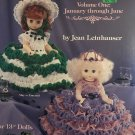 Birthstone Dolls Volume One January - June Crochet Dress Patterns American School of Needlework 1118