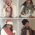 Simplicity 8812 Hats and Scarf Sewing Pattern 3 sizes