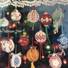 American School of Needlework Crochet Pattern 1067 Thread Crochet Christmas Tree Ball Ornaments
