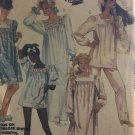 McCalls 2193 Long or short gathered pullover nightgowns or tops Size 14 16 18