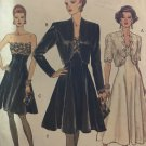 Misses' Special Occasion Dress and Jacket Sewing Pattern Vogue 8229 Size 8-12 Bust 30-34