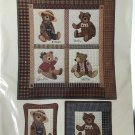 """Country Bears Quilt Pattern Country Appliques 31"""" x 34"""" 4 bears 3 projects"""