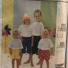 Burda 9982 Child's shorts pattern in 2 lengths, elastic waist sewing pattern sizes 2-8