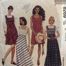 McCalls 8269 Summer Dress or Jumper size 10 12 14 Sewing Pattern