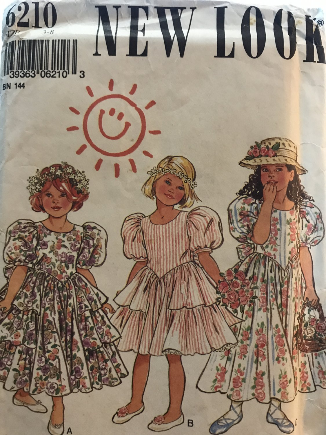 New Look 6210 Child's Special Occasion Dress flower girl Size 3 - 8 sewing pattern